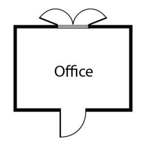 10x8 Office, Floorplan