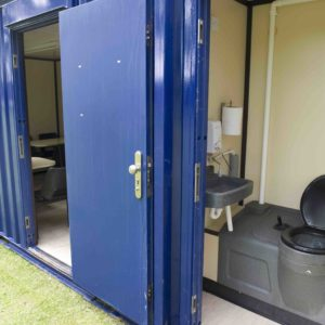 Toilets within a Scotbox office accommodation