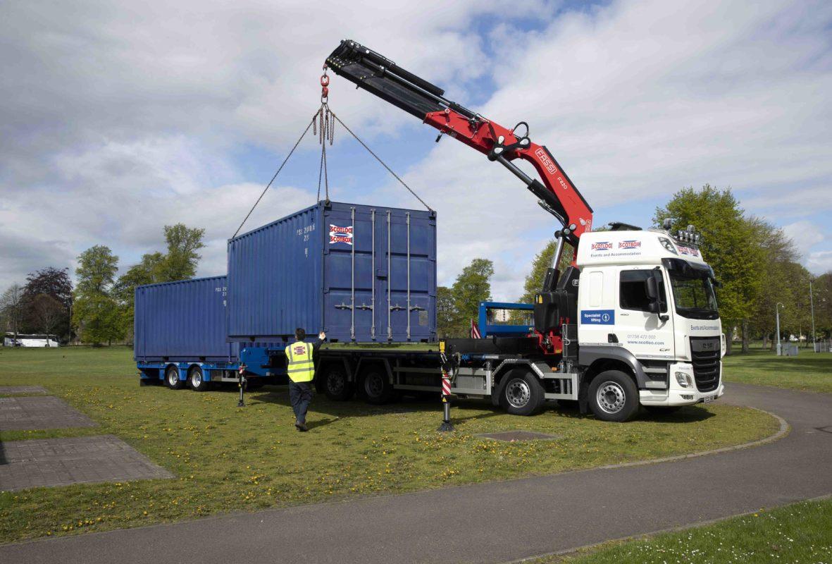 Scotloo/Scotbox new lorry and Crane